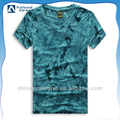 men's short sleeve t-shirts v neck tie dyed t-shirts for man