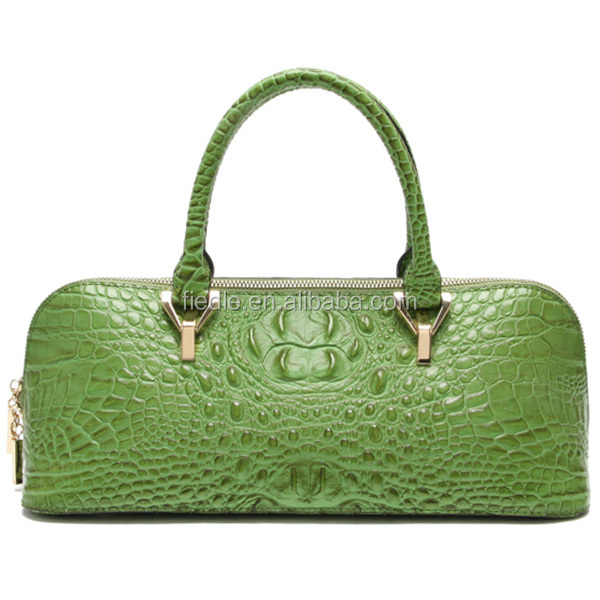 special handle hardware women crocodile pattern leather bags
