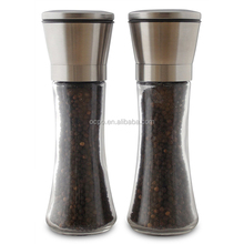 Stainless Steel Spice grinder Salt and Pepper Grinder Set of 2 ,Salt & Pepper Mill with Adjustable Ceramic Grinding Mechanism