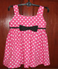 Children Frock Model Baby Dress Cutting Polka Dots School Girls Without Clothes