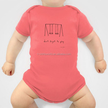 ISO9001 baby clothes factory custom very cheap solid color quick dry infant romper/baby romper