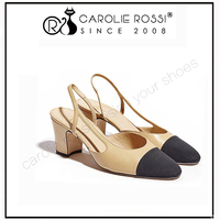 square low heel black toe cover wedding bridal group wear slingback strap shoes