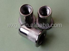 High qualityM3,M4,M5, M6,M8,M10,M12Stainless steel flat head knurling rivet nut made in China