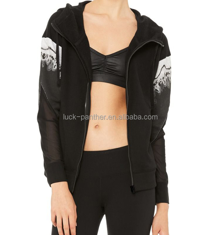 High neck hoodies wholesale women 60 cotton 40 polyester hoodies