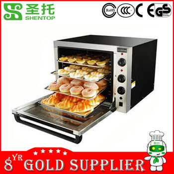 Shentop STPD-X4P deck oven with steam oven hot air circulation for heating high efficency convention oven
