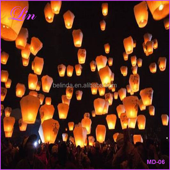 Free Shipping by DHL/FEDEX/SF 10pcs Chinese Paper Lantern Sky Lanterns Flying Wishing Lamp Kongming Lantern Balloon
