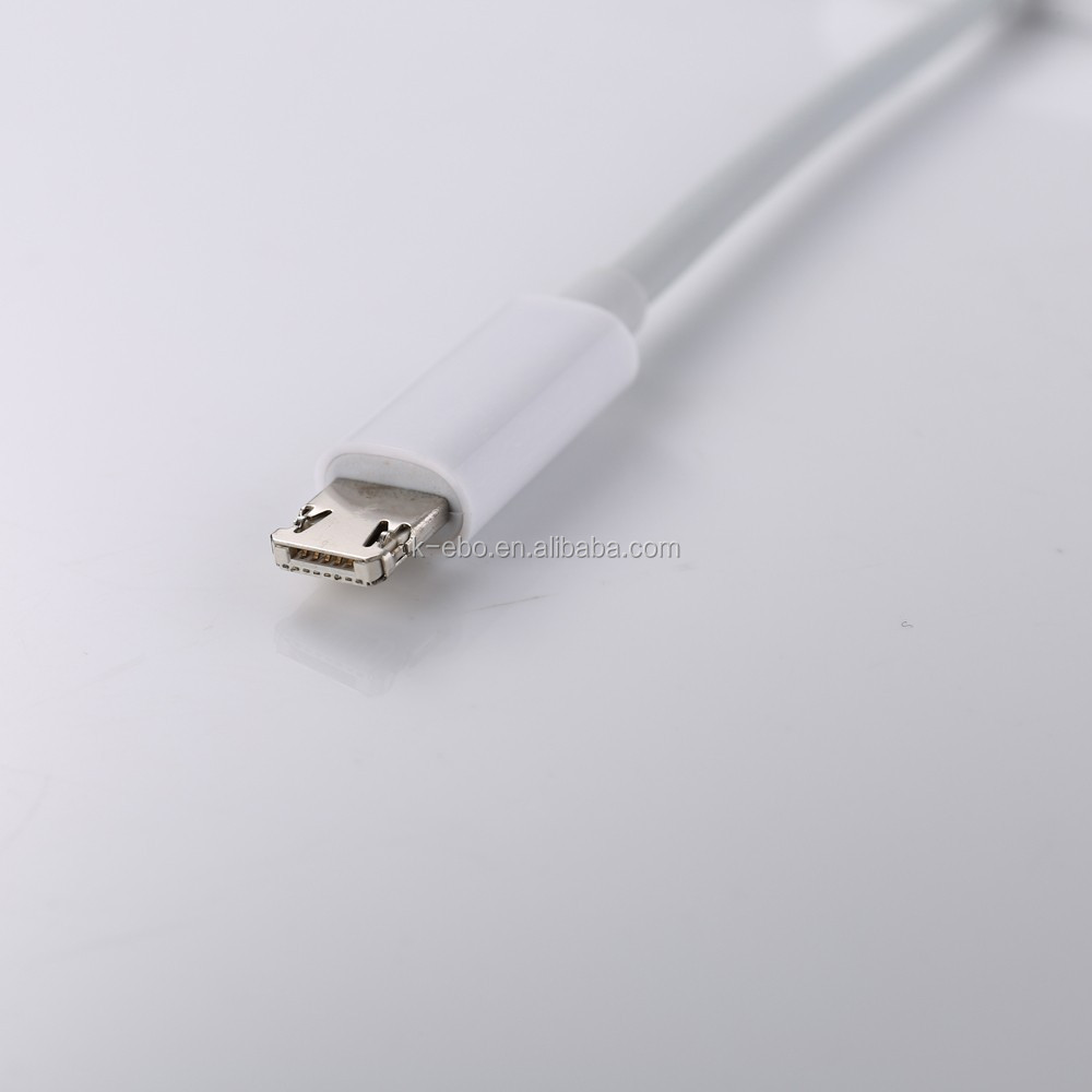 Two sides 8PIN and Micro to SD Card Reader for iPhone 6 and Android phones