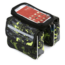 Grass of green colors waterproof touch screen bike storage bag bicycle saddle phone bags