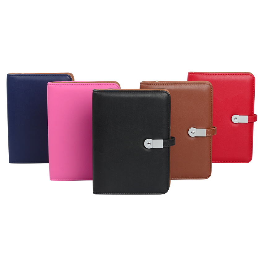 2017 Factory USB Hardcover Leather Powerbank Notebook