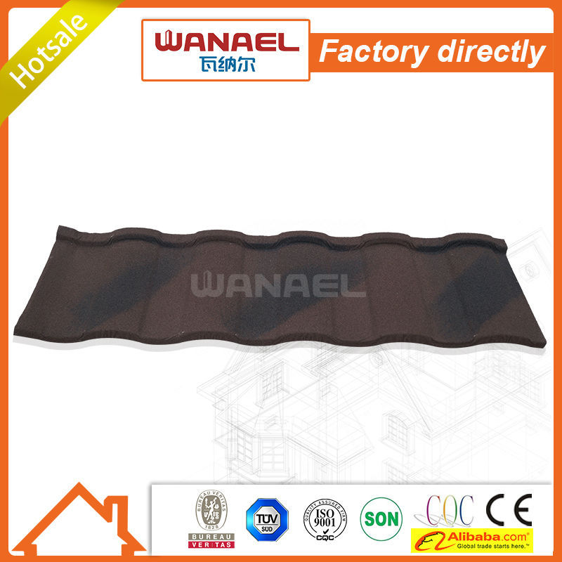 anti-freezing mediterranean terracotta red sun stone coated metal roof tile
