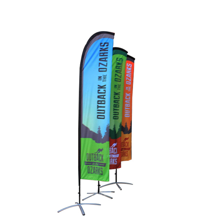 Outdoor flying wind <strong>resistant</strong> printing advertising feather flag banner