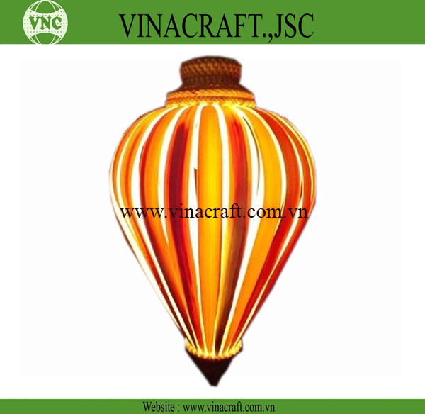 Decorative bamboo ceiling light for restaurant