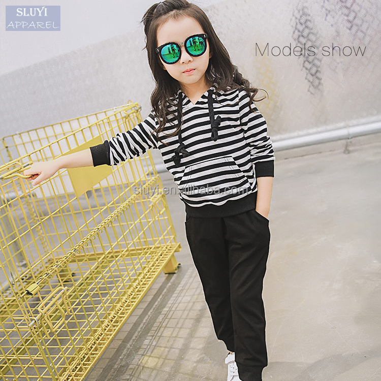 Korean children's clothes Striped new two-piece track casual kids clothing set