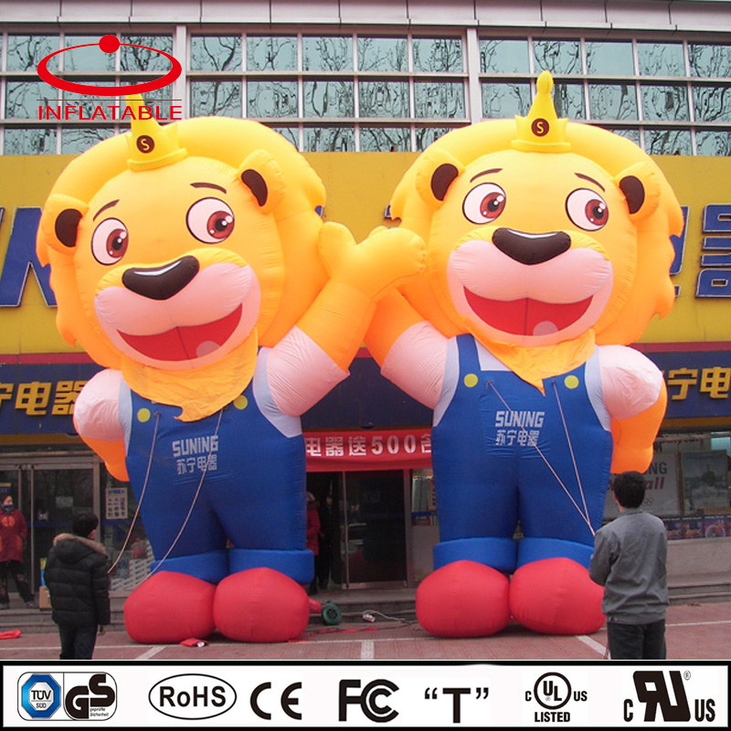Inflatable decoration cartoon, inflatable lion mascot