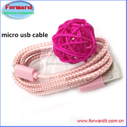 1pack braid fabric 3ft micro usb cable wholesale