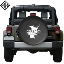 Universal Waterproof Black Leather Custom Spare Car Tire Cover