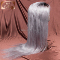 Top Trade China Hot Selling Grey Wig 20 inch Top Grade Unprocessed Indian Natural Hair Wig