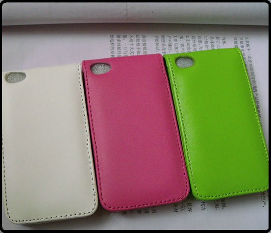 Pu leather flip case cover for ipod touch 4 itouch 4 with Slide card holder