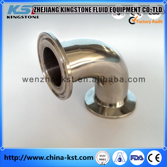 Stainless steel pipe elbow clamped elbow 90 degree