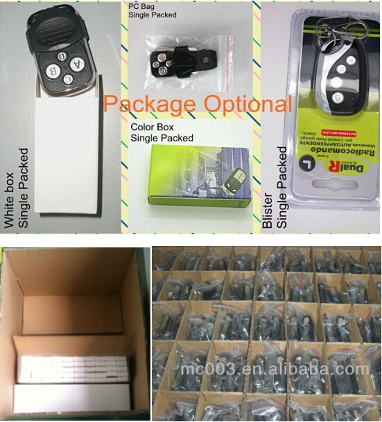 Factory price Door Automation opener 433.92mhz NICE FLORS Remote Control Compatible