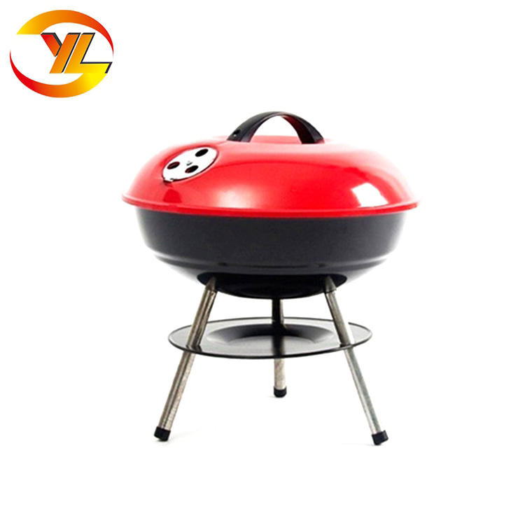 Guangdong Factory Flat Top Grill  Balcony Porcelain Enamel Apple Barbecue Charcoal Kettle Bbq Grill