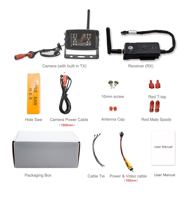 New product wireless backup camera of bus with super stable signal and video transmission