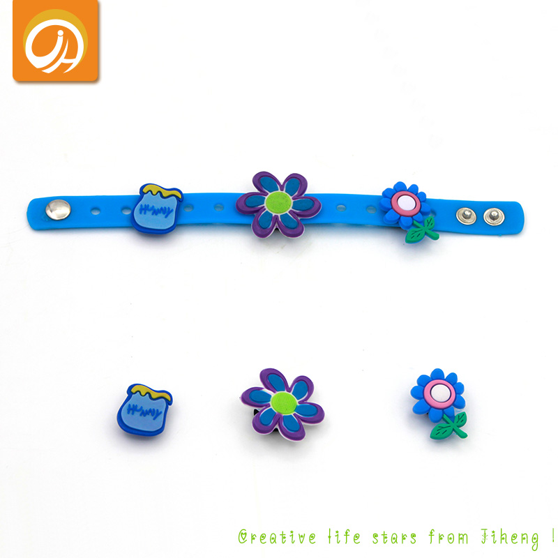 Free Sample Customized Kids Wristband Silicone Rubber Bracelet