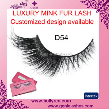 Private Label Luxury Real Mink Fur Eyelash Eyelash Packing