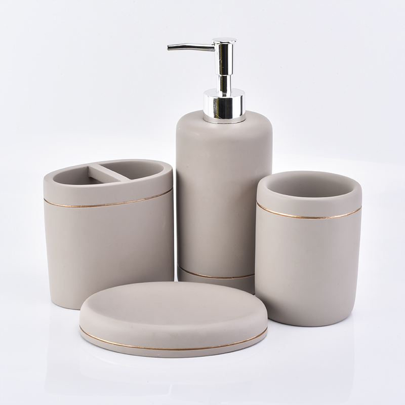 2019 luxurious New Products Cement Concrete Bathroom Accessory Set