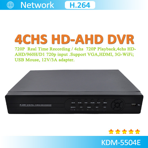H.264 4Chs Real Time 4 channel dvr surveillance equipment