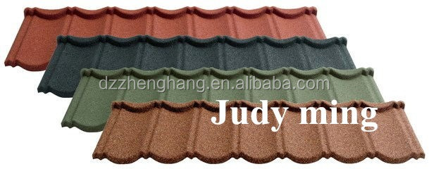 High quality colorful stone coated steel metal roof tile