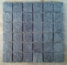 Ostritch Grey Quartzite Tumbled In 12x12 Mesh Mounted Mosaic Tiles