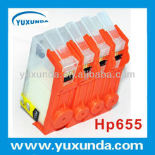 655 Refill ink cartridge with resetting chip for HP4625