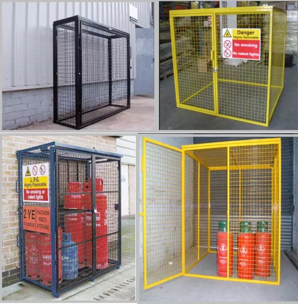 new gas bottle propane security cage adaptable storage soluton see variations