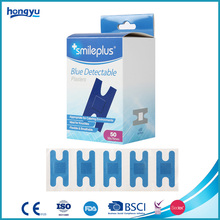 H Type Band-aid Fabric Fingertips Bandage Metal Detectable Blue Plaster