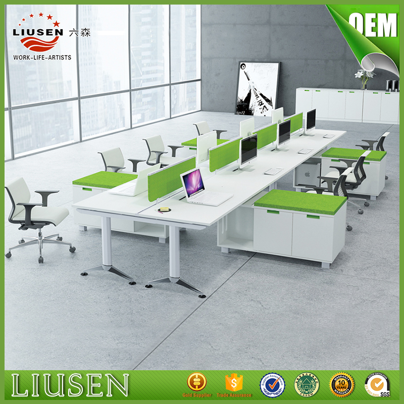 Eco-friendly office workstation for 8 people and Executive Screen Desk 5600*1200mm (LS-BG-0205)