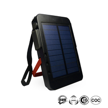 2017 Hot Selling High Capacity Universal 4000mAh Li-ion Battery Campint Outdoor Use Portable Solar Power Bank For Phone
