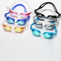 Fashion Cute Anti-Fog Colorful Silicone Funny Swimming Goggles For Adult And Kid