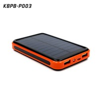 2015 new large capacity 10000 mAh waterproof portable solar power bank usb solar charger for mobile phone and tablets