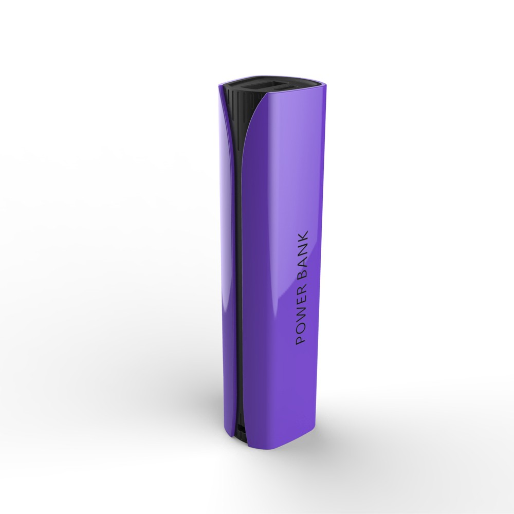 Colorful appearance battery bank power bank 2600mAh square shape for mobile phone with CE Rohs FCC