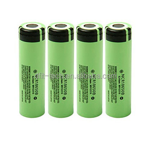 Genuine Button top and flat top NCR18650B 3400mAh 3.7V rechargeable Li-ion Battery NCR18650B with PCB