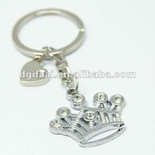2012 hot sale promotional gifts metal crown keychain