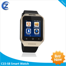2014 android smart watch 4.4 ,water resistant, bluetooth 4.0 support 3G SIM CARD S8 ZGPAX
