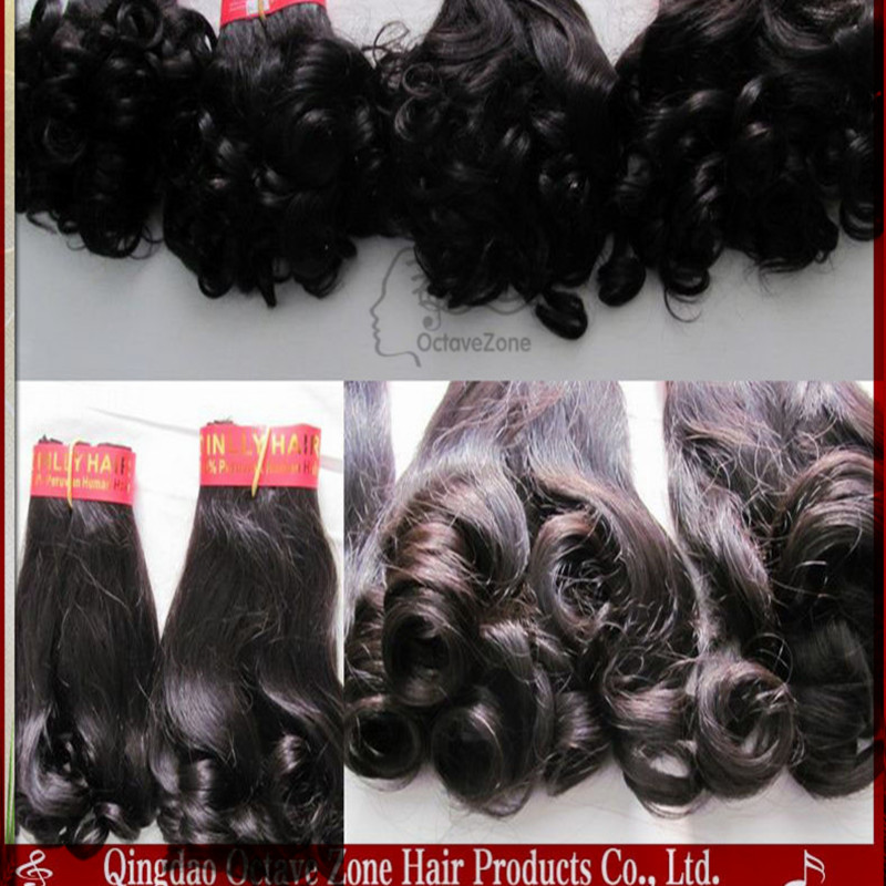 Glossy And Soft High Quality Remy Human Hair Extension Romance Curl Virgin Brazilian Hair