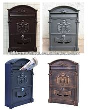cast iron wall mailboxes
