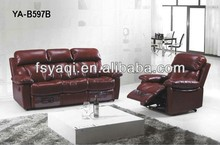 America style modern furniture 3 seat recliner sofa leather covers
