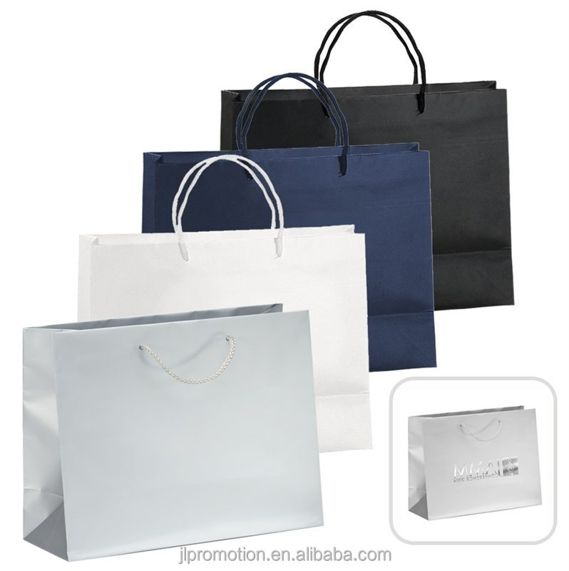 Quality Laminated Paper Gift Bag are 157GSM premium weight matte laminated euro totes with rope handles