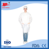 Nonwoven working suit\ disposable chemical resistant lab coats with knitted cuff\nonwoven surgical gown