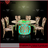 LED wedding table different types of table setting