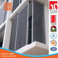 Commercial House Fixed Aluminum Louver Window With 10 Years Warranty